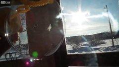 Thumbnail of A soap bubble freezing