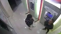 Thumbnail of Robber beaten by victim in ATM room