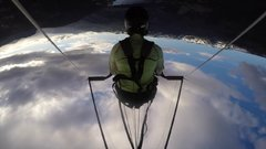 Thumbnail of Hangglider collapses during high speed dive