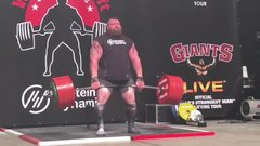 Thumbnail of Setting a new world record, Eddie Hall becomes the first man ever to deadlift 500kg (1102.3lbs)