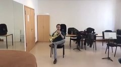 Thumbnail of Duet for French Horn and chair