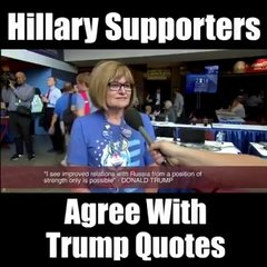 Thumbnail of Hillary supporters agree with Trump quotes