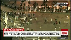 Thumbnail of CNN reporter hit by protester, knocked over