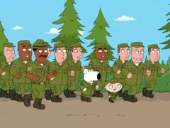 Thumbnail of Brian and Stewie in the Army