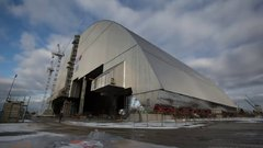 Thumbnail of Giant radiation shield built to cap Chernobyl's damaged nuclear reactor