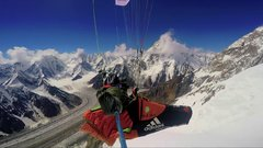 Thumbnail of Flying over Broad peak with a paraglide.