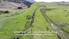 Thumbnail of The ruptured landscape of the New zealand after earthquake