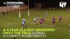 Thumbnail of Charity match Rugby pitch invasion !