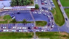 Thumbnail of School car lines, this seems surreal for someone living outside the US.