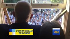 Thumbnail of Students Who Gathered Outside Cancer-Stricken Teacher's Home