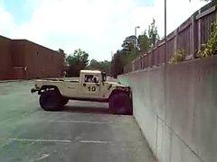 Thumbnail of Humvee Climbing Vertical Wall