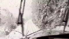 Thumbnail of Train plows through trees after snow storm!
