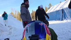 Thumbnail of Daniel Bodin Lands Huge Double Backflip on a Snowmobile!