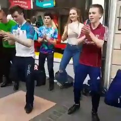 Thumbnail of Irish street dancers do their thing, and without music!