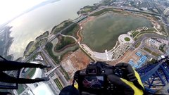 Thumbnail of BASE JUMPING OFF A 1300FT CRANE IN CHINA