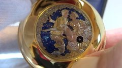 Thumbnail of VIntage Reuge erotic automaton musical pocket watch