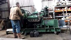 Thumbnail of Old diesel engines starting up.