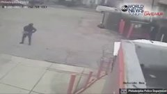 Thumbnail of Robber Does Some Stretching Before Robbing A Dunkin Donuts