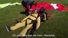 Thumbnail of D-Day hero, 101, becomes the world's oldest skydiver.