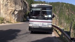 Thumbnail of Bus drives through tunnel at the Needles Highway.