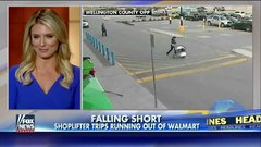 Thumbnail of Clumsy shoplifter trips, faceplants, running out of a Walmart in Canada