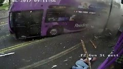 Thumbnail of The moment a man is knocked over by a Bus