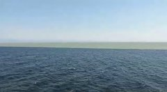 Thumbnail of Atlantic and Pacific Ocean meet at the point of mid Ocean