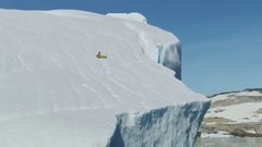 Thumbnail of Ride an inflatable slice of pizza down a 300 foot iceberg