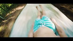 Thumbnail of Crazy 100ft slip and slide through forest