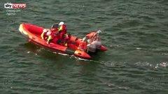 Thumbnail of Coastguard rescue doomed dog.