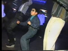 Thumbnail of Russian kid dancing at club can't be bothered. 1997.