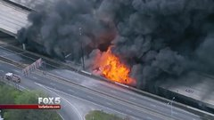 Thumbnail of All 6 lanes of major highway I-85 in Atlanta just went up in flames and collapsed