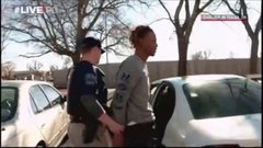 Thumbnail of Intense fight between police and a suspect for a gun