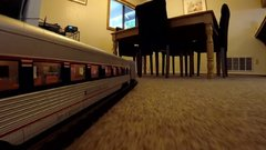 Thumbnail of GoPro attached to model passenger train