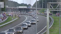 Thumbnail of Today 3 years ago flight MH17 came down in Ukraine. This video shows the hearses with bodies on the