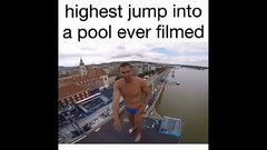 Thumbnail of Highest Jump Into a Pool Ever Filmed