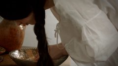 Thumbnail of Getting dressed in the 18th century - working woman