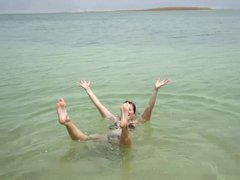 Thumbnail of Look how easy it is to swim (or float) at the Dead Sea