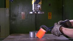 Thumbnail of Crushing and Slicing Red Hot Steel with Hydraulic Press