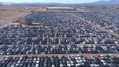 Thumbnail of Volkswagen's car 'graveyard' in California - BBC News