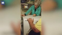 Thumbnail of Hilarious video of woman who gets stuck behind dryer