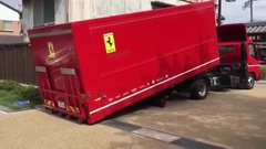 Thumbnail of This is how the Ferrari 458 is unloaded in Japan !