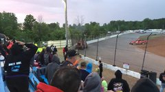 Thumbnail of Runaway tractor at Tri-city Speedway in Auburn, MI