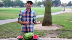 Thumbnail of Watermelon skinning party trick