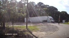 Thumbnail of Train plows through tractor-trailer in Virginia