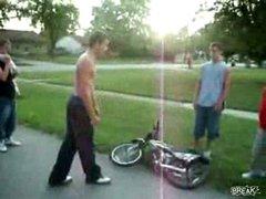 Thumbnail of Kid Teaches Shirtless Bully a Lesson