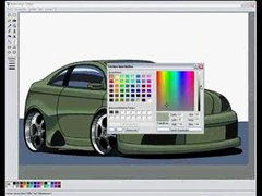 Thumbnail of How to draw a car in MS Paint