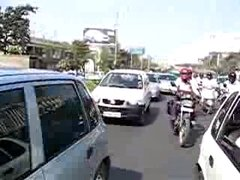 Thumbnail of Crossing the street in India