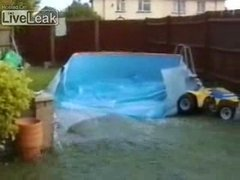 Thumbnail of Kid breaks swimming pool with quad