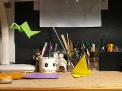 Thumbnail of Origami bird animation